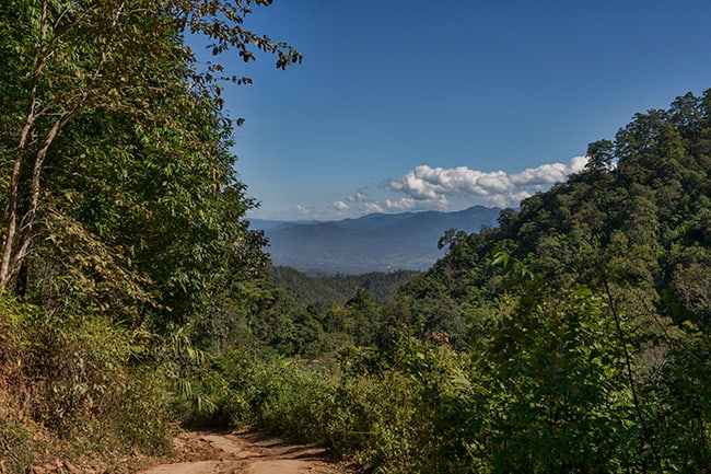 The Pai valley in the back