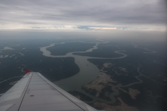Over the delta in south Vietnam