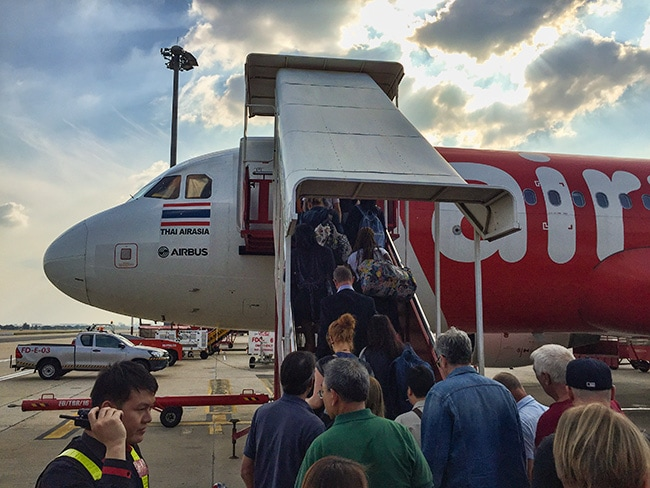 Boarding AirAsia BKK to SGN