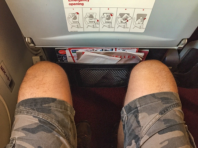 Enough space for me - they gave me an emergency exit row seat :-)