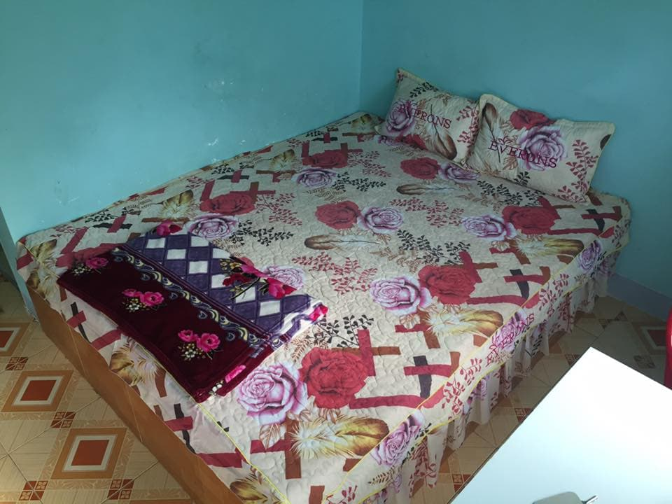 My bed at the Dai Thanh Guesthouse