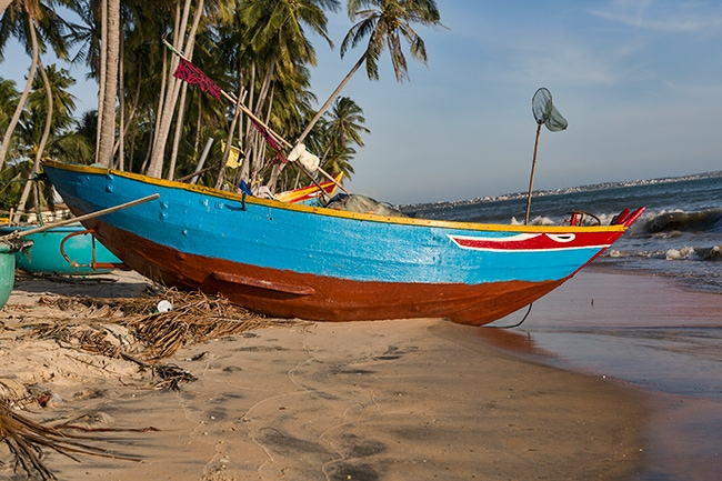 Fishing boat at the beach in Hàm Tiến