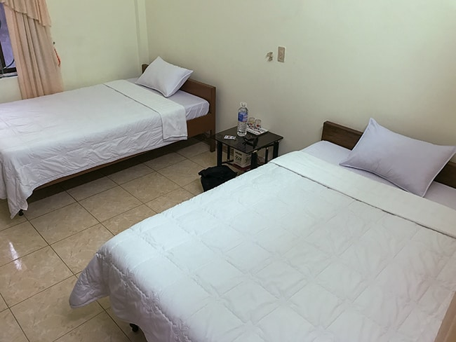 Room at the Mountain View Hotel in Phong Nha