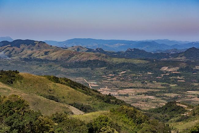 Looking down at Hương Hóa in the Quảng Trị Province