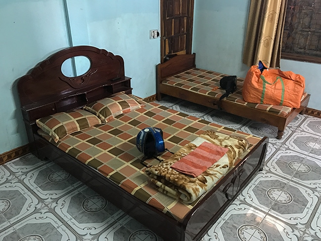 My room at the Ngoc Chau Guesthouse in Khe Sanh