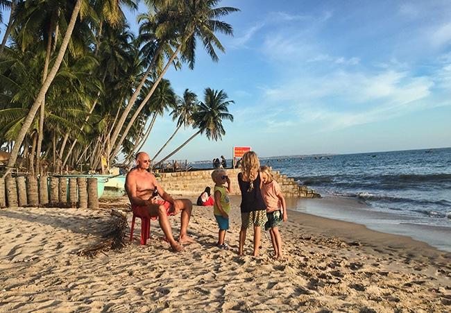 At the beach in Mũi Né