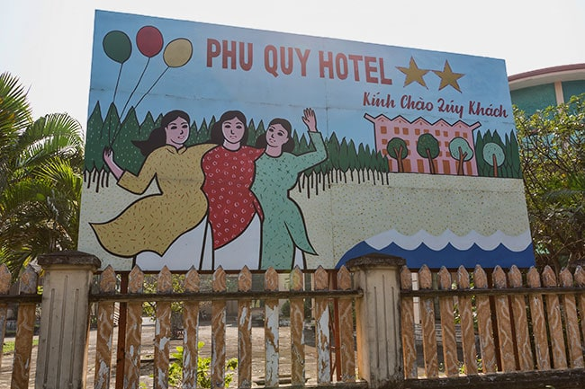 Advertising for a hotel in Đồng Hới