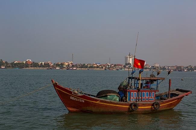 Fishing boat in Đồng Hới