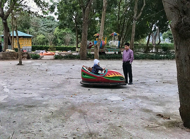 At the park in Ninh Binh