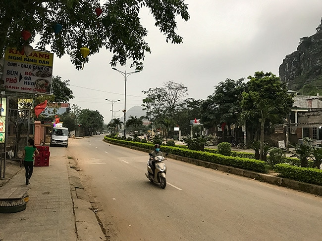 The main drag of Phong Nha