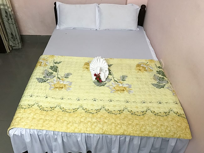 My bed at the Thanh An 2 Guesthouse in Hue
