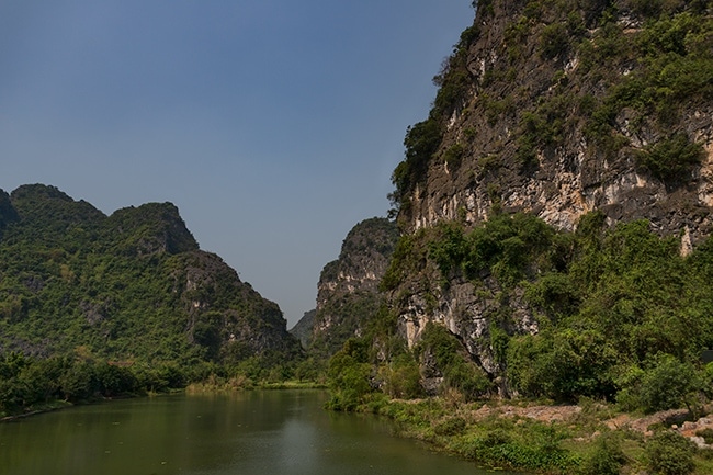 The river in Tam Coc