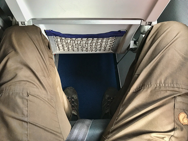 Not a lot of leg room