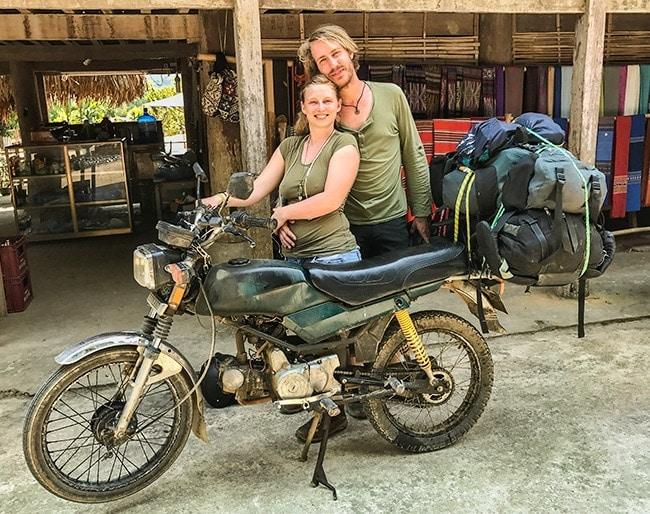 Gitte and Gieter on the way to Ninh Binh