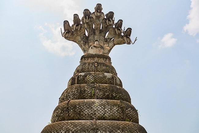 Buddha seated on a coiled nāga