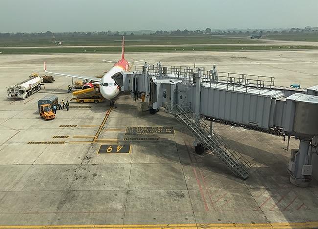 My plane to Bangkok