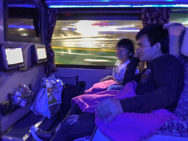 Small people are more happy in a bus!