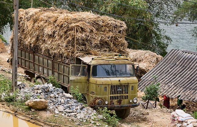 The old truck is still in use