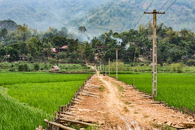 Different way to build a road to the village