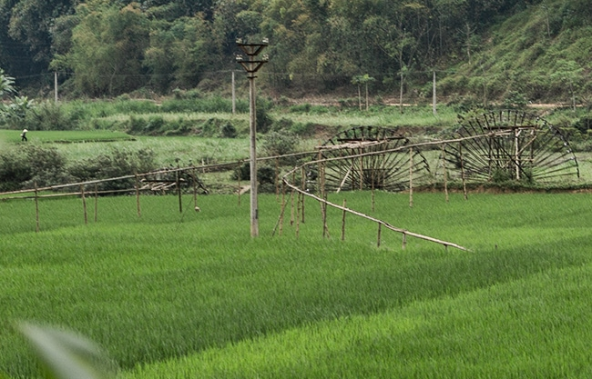 Nice construction to get the water into the rice fields