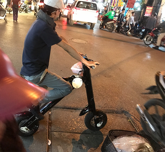 Cool electric scooter