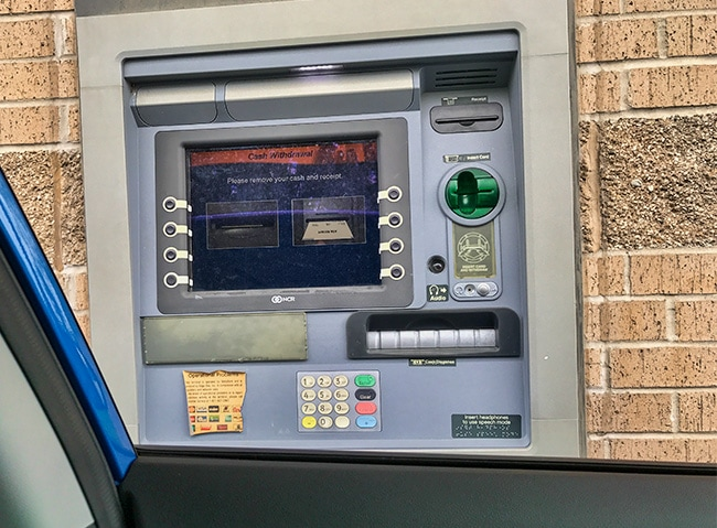 For the 1st time ever I used a drive-thru ATM! And it was in ‎⁨Pleasant Springs⁩