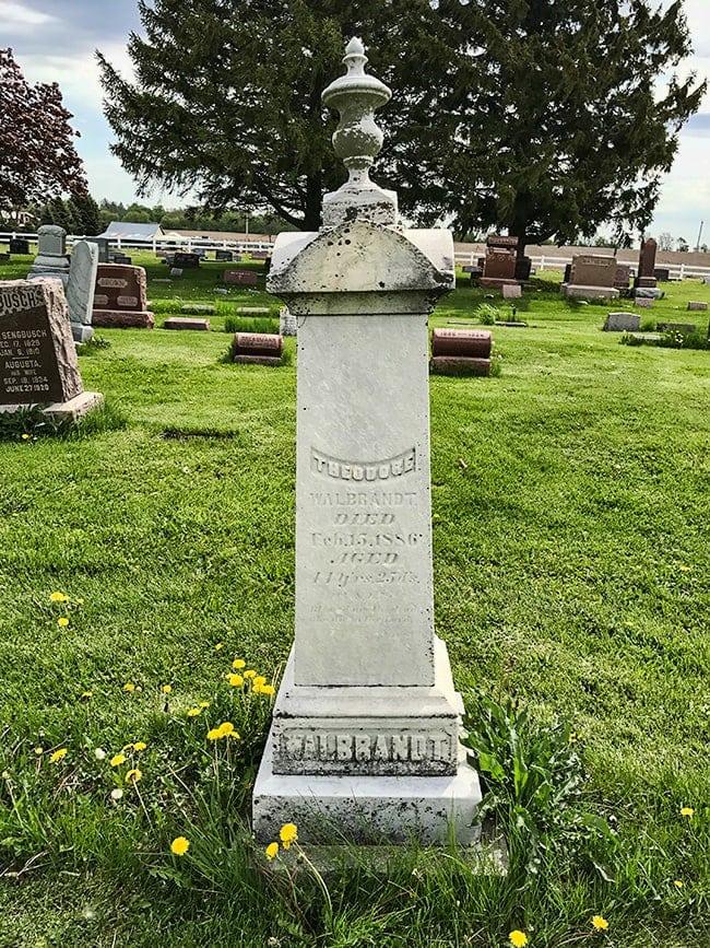 Graveyard in Lafayette, Wisconsin