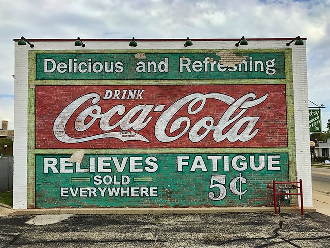 Coke advertisement at the Elkhorn Garage