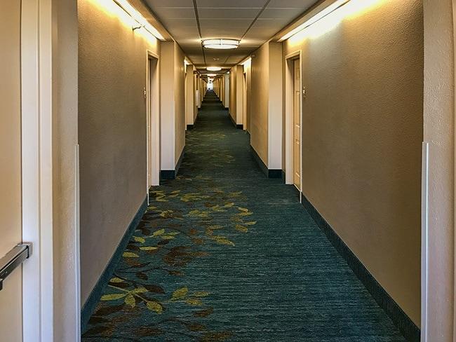 A very loooong hallway