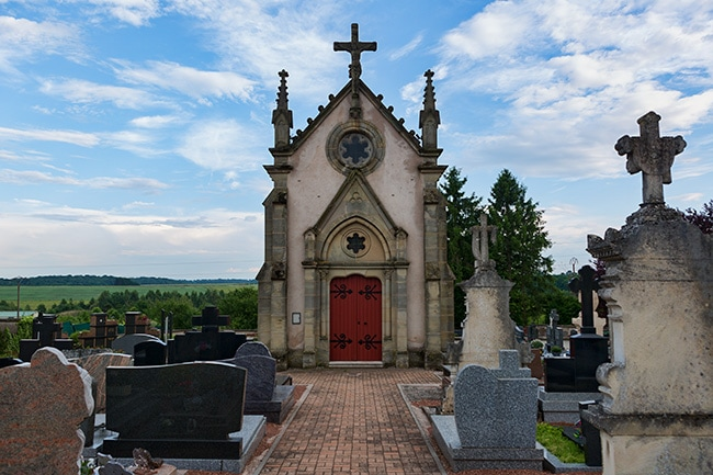 Small graveyard in Barst
