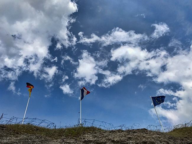 Flags over Fort Vaux