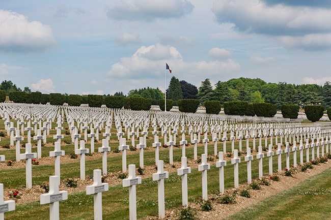 The largest single French military cemetery of the First World War with 16,142 graves.