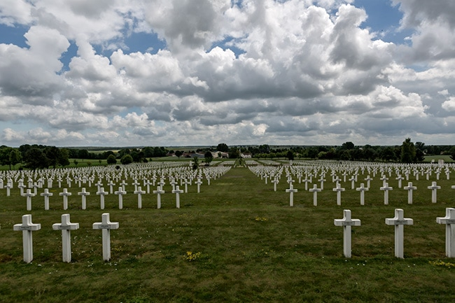 Souain War Cemetery - French side - more than 30.000 graves