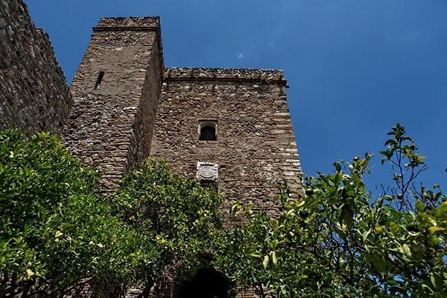 A tower of the Alcazaba of Málaga