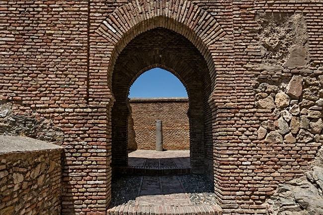 Inside the Alcazaba of Málaga