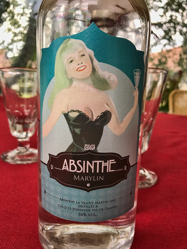 Swiss Absinthe Marylin 54%. Distilled in Boveresse Val-De-Travers