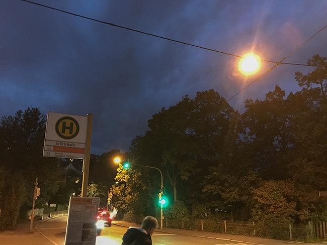 6:38 at the bus stop - not a nice time for me