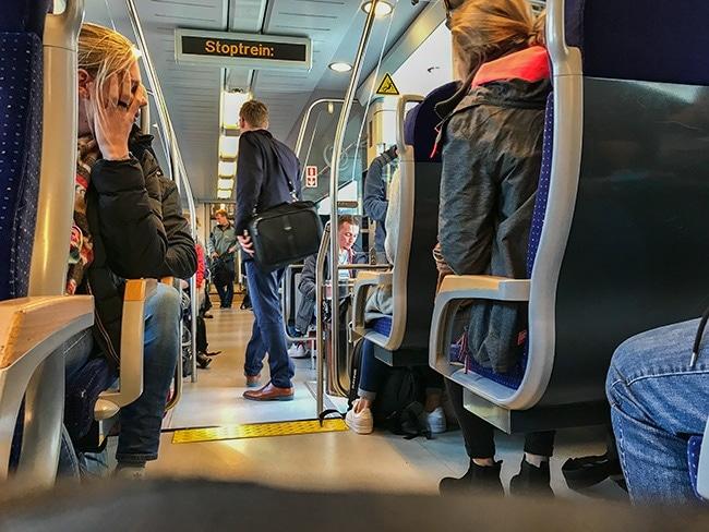 16:58 at Leuwarden train station