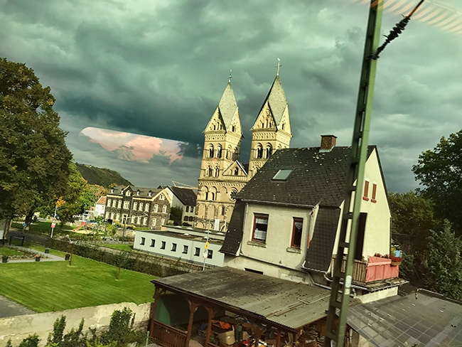 16:02 in Andernach at the Rhine river
