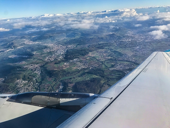 Towards the Alb we fly