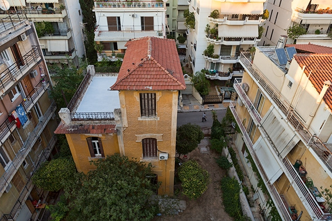 One of the few old houses left in Athens