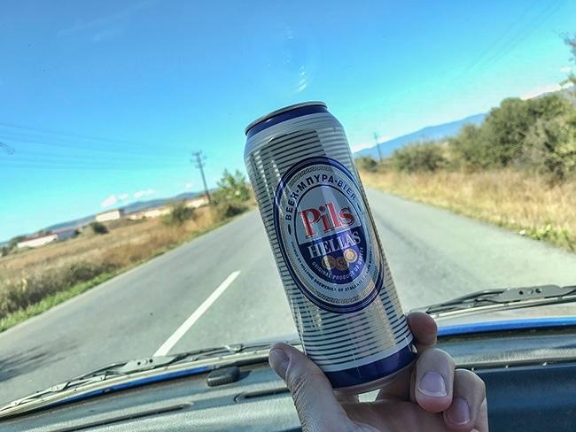 Beer tasting - last beer in Greece