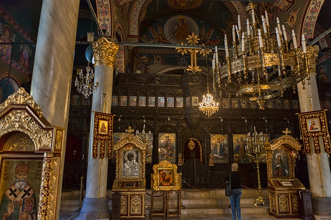 Inside the Sveta Marina church