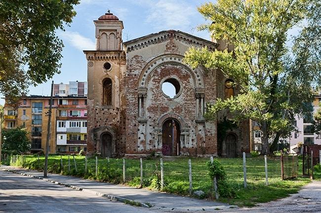 The Vidin Synagogue, deserted after Jewish emigration to Israel in 1940