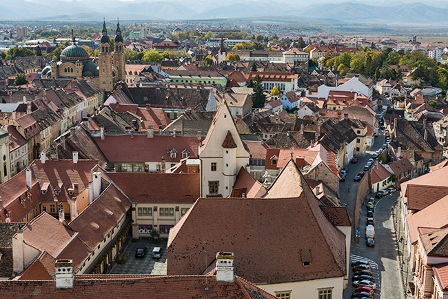 View from the Sibiu Lutheran Cathedral