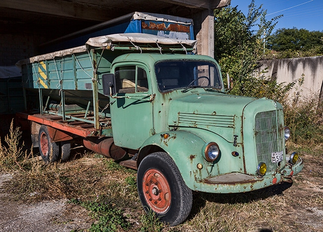 Old Mercedes truck in Vathylakkos