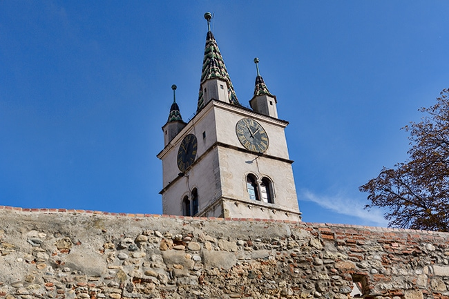 Church in Sebes - note the small towers!