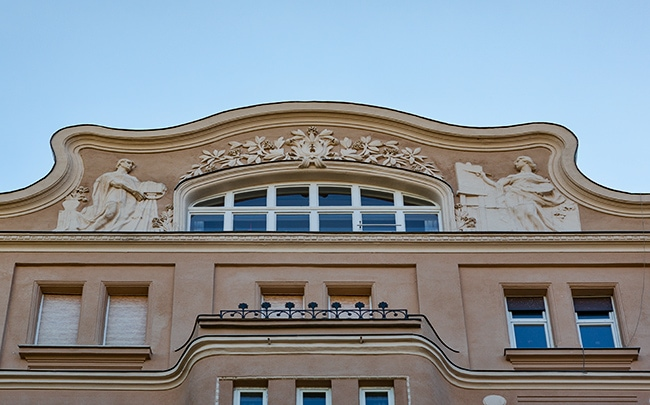 Art deco house at Bakáts tér