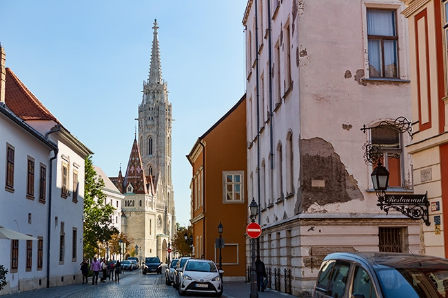 The tower of the Matthias Church or Mátyás Templom