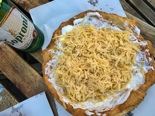 Langos - Kind of the National Dish in Hungary